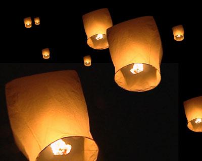 晚一千余盏七彩孔明灯将放飞星城 图