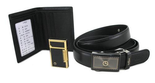 【金利来goldlion】木制礼盒三件套礼盒(钱包/皮带/打