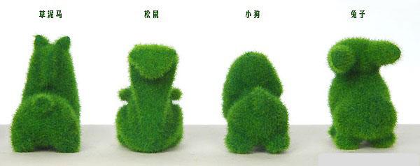 可爱小动物人造草【图片