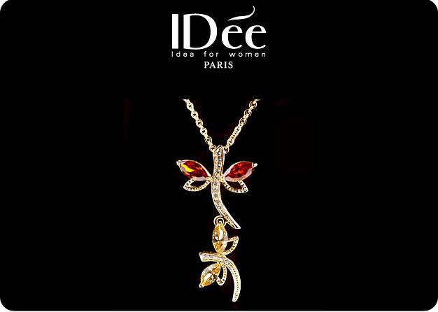 饰品设计图系列-idee首饰套装 蜻蜓形状设计套装