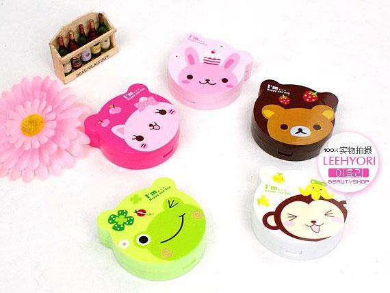 特价换购:韩国超可爱动物庄园卡通隐形眼镜盒(随机)