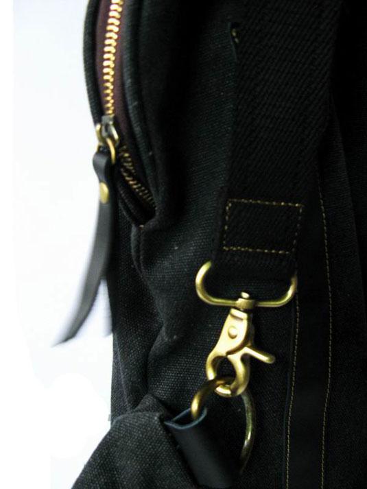 时尚帆布配皮之黑色魔力三背包袋 单肩包 女式包包 皮具 单肩包