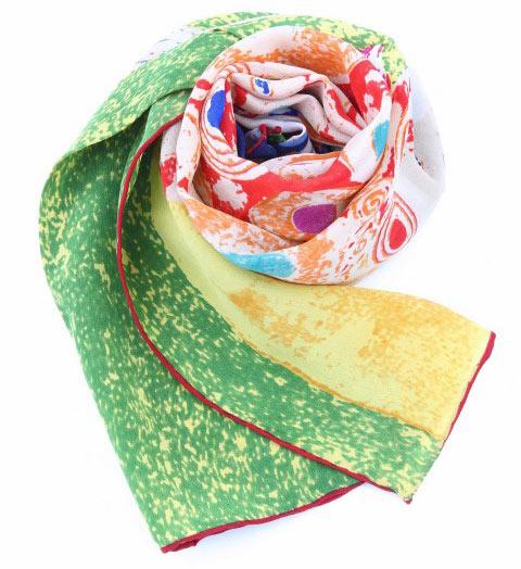 心形花围巾织法图解