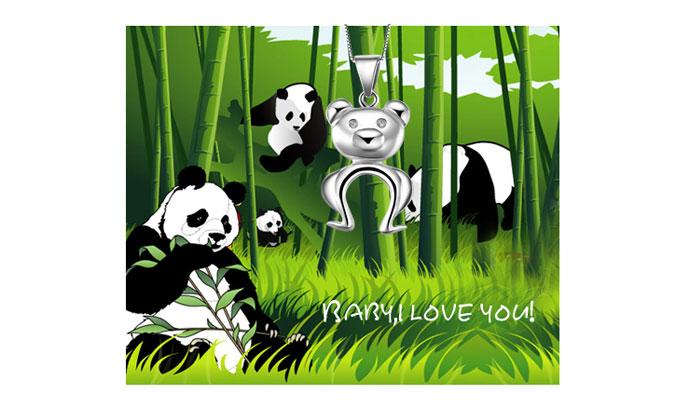 【baoyigo宝易购】925银可爱宝贝小熊猫吊坠