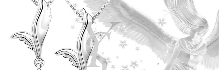 【yousoo】天使的翅膀浪漫水晶项链