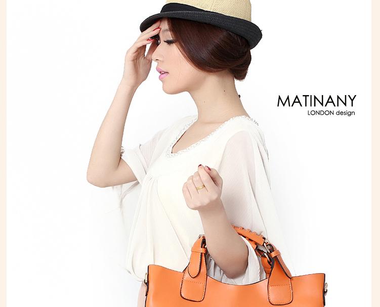 【马汀尼】典雅风潮托特包手提包女包(棕色)【图片