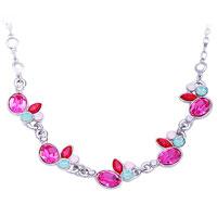 【LEECR】时尚粉色水晶项链-月光串起的思恋