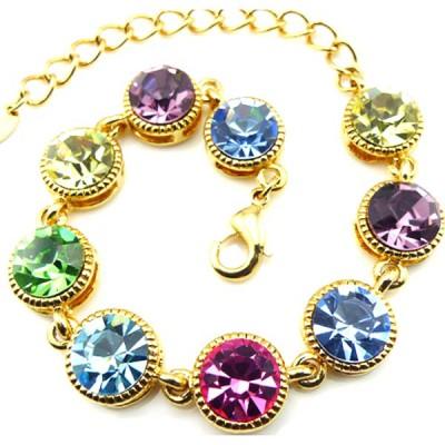 水晶潘多拉手链 彩色