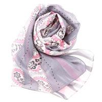 【S.K.T】低调奢华系列-柔和小花真丝绉缎长丝巾