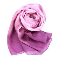 【S.K.T】低调奢华系列-渐变粉色真丝绉缎长丝巾