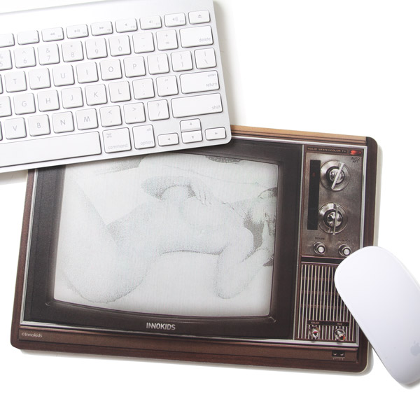 异开】复古电视机鼠标垫【图片
