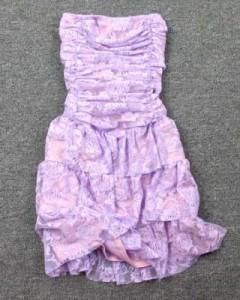 专柜正品奢华性感蕾丝裹胸蛋糕裙(紫色)