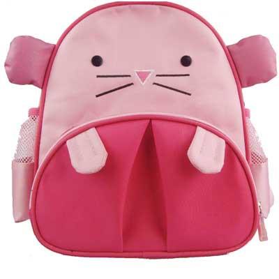 可爱系列 卡通潮人儿童双肩包-小粉鼠(粉色)【图片