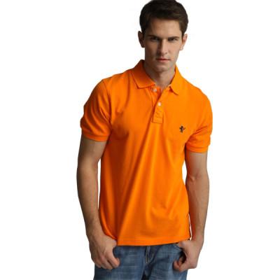 【FEEL MIND】北美风格 100%纯棉短袖POLO恤(桔色)