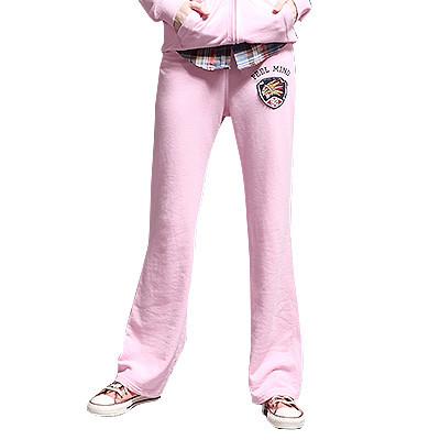 【FEEL MIND】FM女装印第安贴布图案6色时尚卫衣裤(粉色)