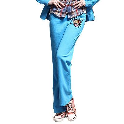 【FEEL MIND】FM女装印第安贴布图案6色时尚卫衣裤(天蓝)