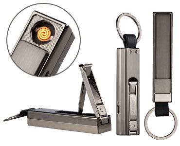 中邦USB充电多功能打火器钨丝静音点火