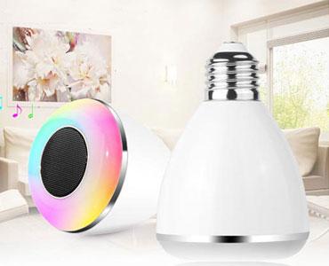 神奇的灯泡:智能蓝牙音箱LED灯 会唱歌的蓝牙灯泡,亮度、色彩自由控制