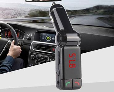 多功能车载免提电话 支持双USB