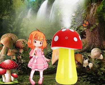 迷你USB蘑菇夜灯加湿器