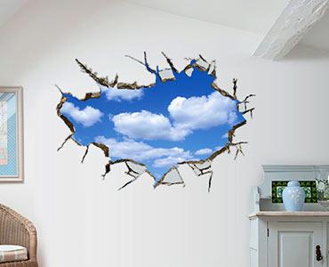 3D墙贴蓝天白云