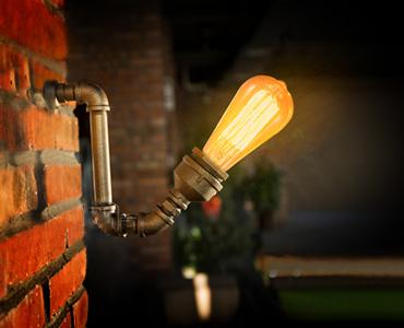 工业风创意水管壁灯