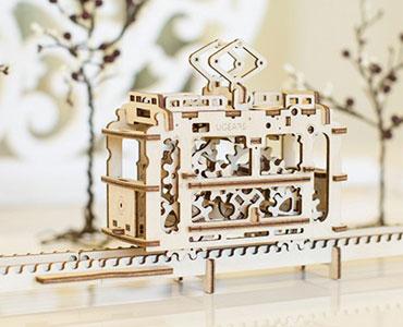 木质机械传动拼装模型