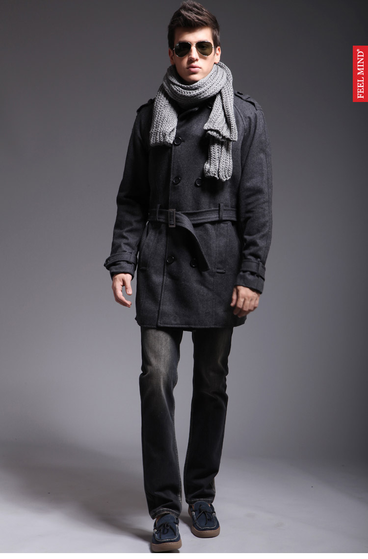 黑色外套搭配图片男
